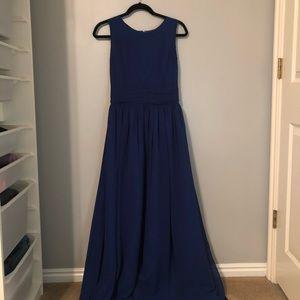 Gorgeous Simple Blue Floor Length Dress